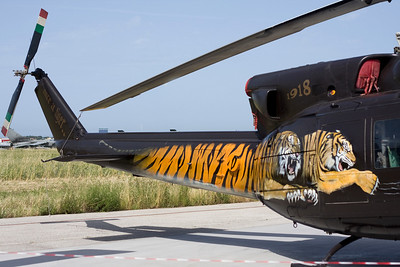 Tiger Huey at Pratica di Mare Air Base Italy