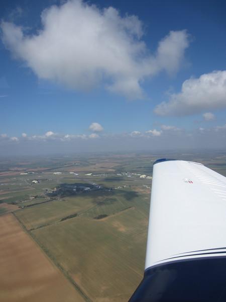 Downwind for Kemble runway 08 RH