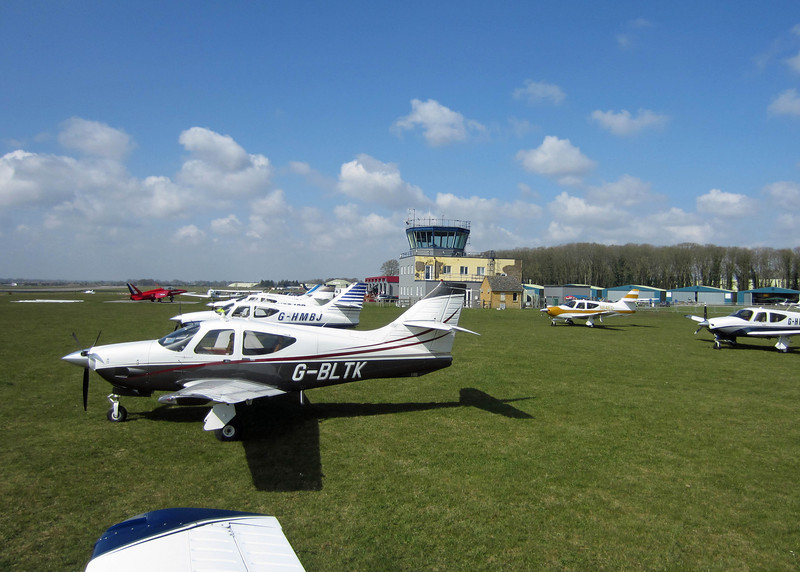 UK Commander fly-in 2013 - The view of Kemble tower and some of the early arrivals