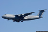 C-5A Galaxy, based out of Stewart, NY, arriving with support equipment for a Presidential visit.
