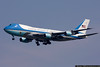 Air Force 1 brings President George W. Bush to New York for the opening of the UN General Assembly.