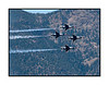 Four USAF F-16 Thunderbirds during the 2009 USAF Academy graduation performance; view the detail in the largest sizes.