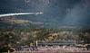 Inverted Thunderbird over the stadium a the USAFA graduation