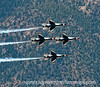 USAF Thunderbirds, during the flyover at the USAF Academy Graduation