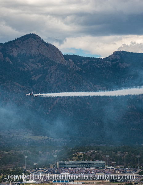 Thunderbirds over the USAFA Stadium During Graduation