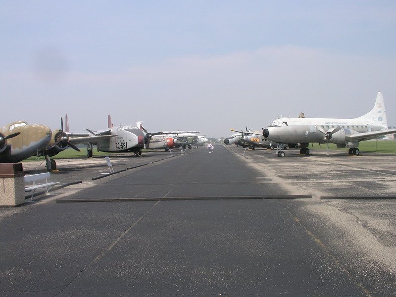 Some extra aircraft parked outside.  These are not restored.