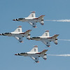 F-16 Thunderbird formation from above.