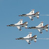 F-16 Thunderbird formation.