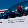 """The Boss"", Lt Col Steve Trent prior to taxi for a practice flight at Nellis AFB NV."