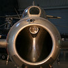 Looking down the nose of a Mig 15