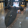 One of the stars of the show, an SR-71 Blackbird.