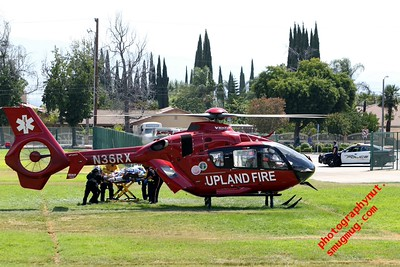 Upland Fire Helicopter Medivac 9 06 2015 Eurocopter EC-135P-2+ C/N 0859