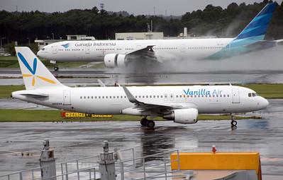 JA02VA VANILLA AIR A320 PK-GIF GARUDA B777-300