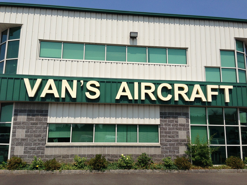 I had the afternoon off after traveling from San Diego to Portland for a work meeting. I grabbed lunch and then arrived at the Van's Aircraft factory in Aurora, OR.