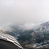 """La ruta de Luchon conocida por algunos de vosotros con las tipicas nubes de retencion cuando sopla Norte. <br /> Aqui se le llama """"La francesa que asoma por el puerto"""""""