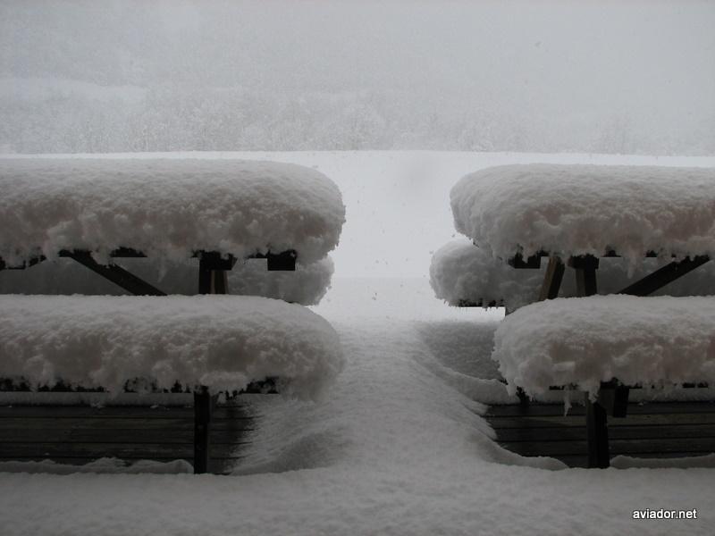 Las mesas de la terraza