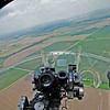 """A """"window on the world"""" view out the plexiglass nose cone over the then-top secret Nordon bombsight."""