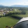 Aerodromo Bellergarde a pocos km. de Ginebra final del trayecto del dia
