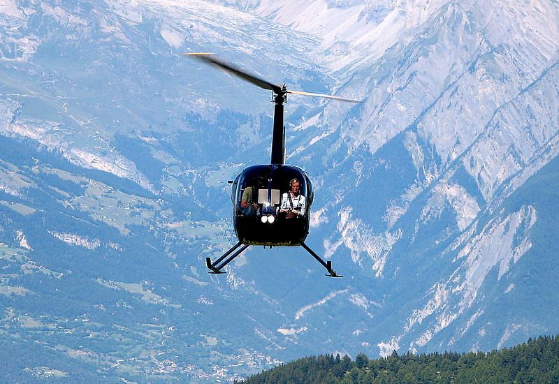 LLegada de Helicoptero con Sion al fondo