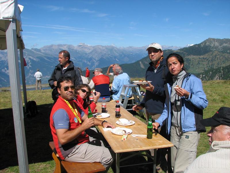Picnic en Bervier Suiza