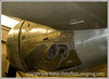 A closeup of the skin on a vintage aircraft from WWII