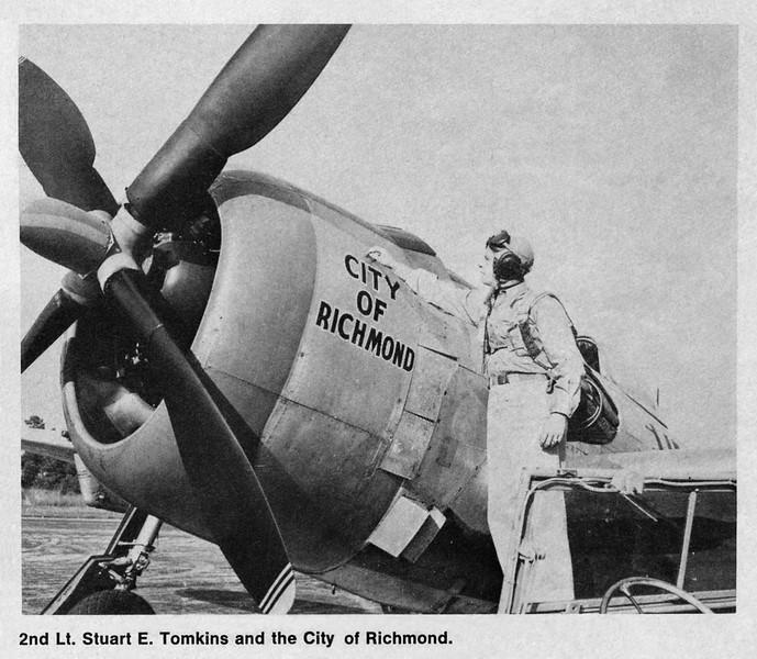 2nd Lt Stuart E Dickie Tomkins and City of Richmond A