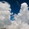 Nubes convectivas  atravesando los Alpes rumbo oeste
