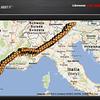 """El """"churro"""" de la ruta, 1.300 km"""