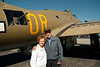 Mr Bill and his wife in front of a B-17.  Bill is a WW 2 vet who served in England on B-17s