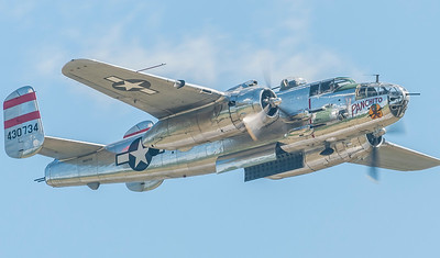 "B-25 Mitchell ""Panchito"" from Delware.  Larry Kelley owns this bird"