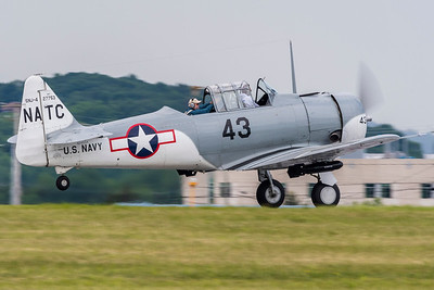Navy SNJ-4 on a takeoff roll