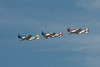 Three P-51 Mustangs in formation over Ohio.