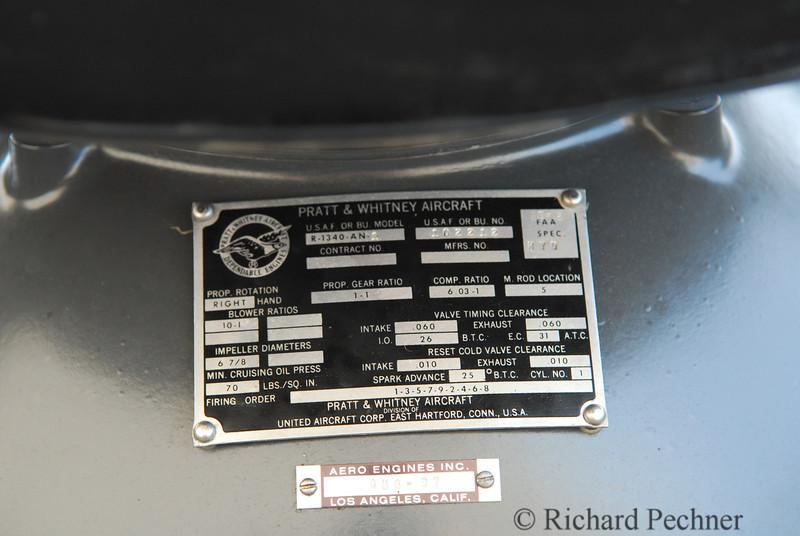 Pratt & Whitney Aircarft plate