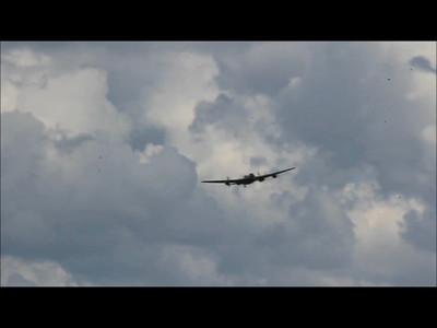 The lanc makes a flyover.