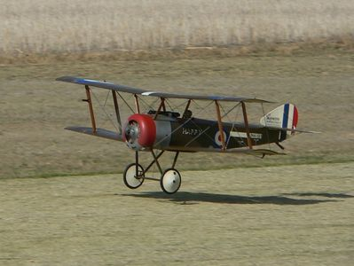 Boyd Elliot's 1/4 scale Sopwith Pup takes off on another sortie.