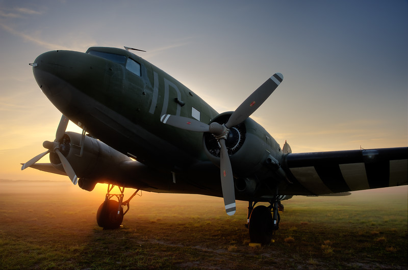 C-47 Sun N Fun 2012<br /> <br /> There isn't a site more beautiful than the rising sun over the flight line.
