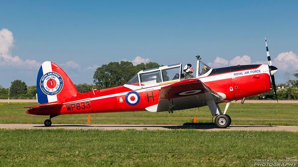 WP833. De Havilland Canada DHC-1 Chipmunk. RAF. Oshkosh. 240718.