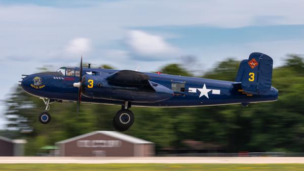 N9643C. North American B-25J Mitchell. Commemorative Air Force. Oshkosh. 210719.