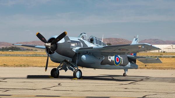 N5833. Grumman FM-2 Wildcat. Commemorative Air Force. Chino. 010515.