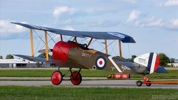 N6205. Sopwith Pup. RAF. Oshkosh. 260718.