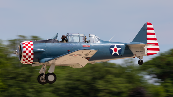 N257DB. North American T-6G Texan. USAAF. Oshkosh. 210719.