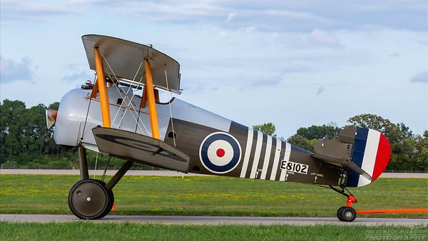 E8102. Sopwith Snipe. RAF. Oshkosh. 260718.