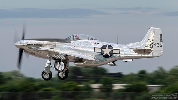 473420(NL151AM). North American P-51D Mustang. USAAF. Oshkosh. 250718.