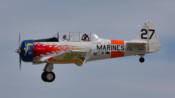 N127VF. North American AT-6C Texan. US Marines. Oshkosh. 210719.