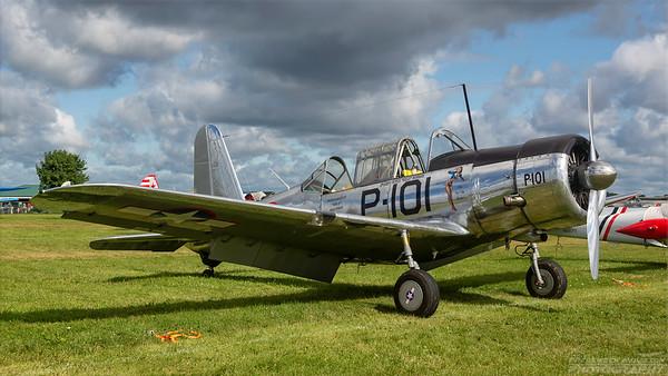 41-10673(N54679). Vultee BT-15/SNV Valiant. USAAF. Oshkosh. 260718.