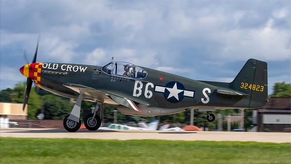 324823(NL551E ). North American P-51B Mustang. USAAF. Oshkosh. 260718.