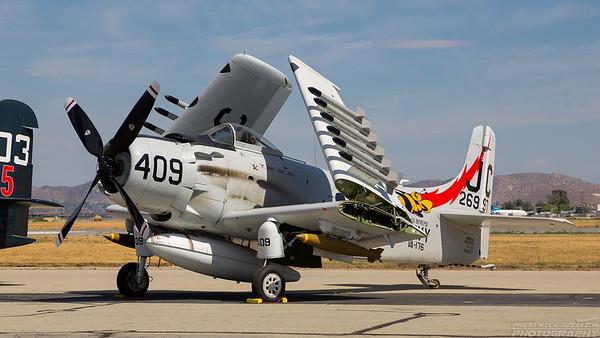 126997 (NX409Z). Douglas AD-4 Skyraider. US Navy. Chino. 010515.