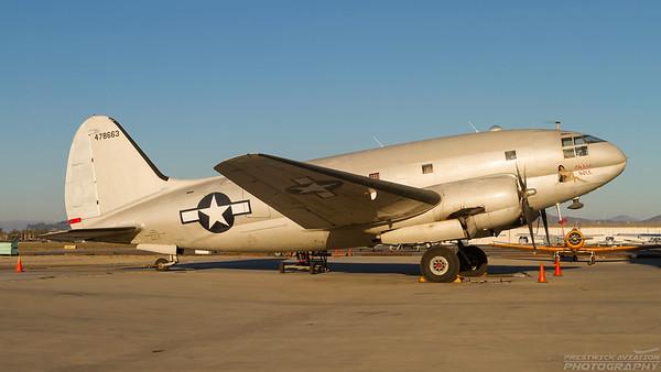 44-478663. Curtiss C-46F Commando. USAAF. Camarillo. 190910.