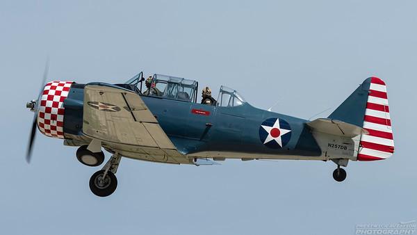 N257DB. North American SNJ-4 Texan. Oshkosh. 250718.