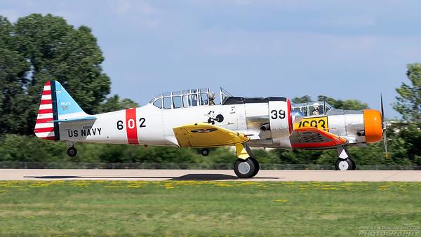 N3261G. North American SNJ-5 Texan. US Navy. Oshkosh. 230718.
